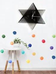 Star Shape Decorative Wall Clock