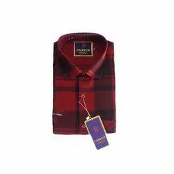 Pansun Checks Men Designer Cotton Shirt, Hand Wash and Machine Wash