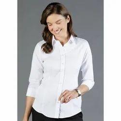 Cotton Plain Ladies Formal Shirts