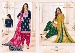 MAYUR Unstitched Cotton Printed Suit