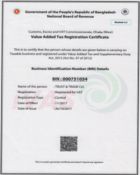 TIN and VAT License