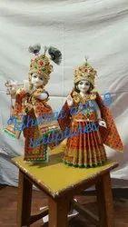 15 Inch Marble Radha Krishna Statue