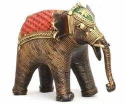 Bastar Art Brass Elephant Dhokra Art