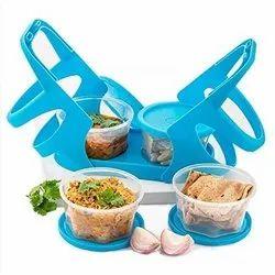 4 In 1 Plastic Lunch Box