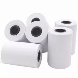 Plain White Restaurant Billing Rolls 79mm x 50meters, GSM: 70 gsm, Packaging Type: Wrapping Individual Roll