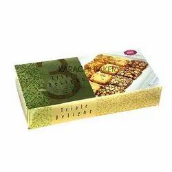 Sweet 600 gram Karachi Bakery Triple Delight, Packaging Type: Box