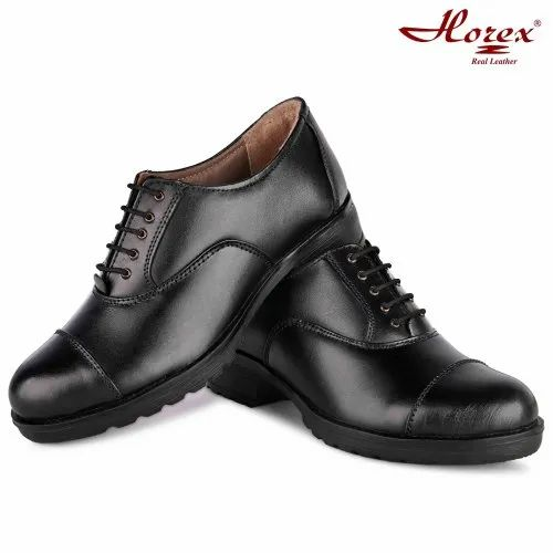 Black Leather Horex Police Uniform Shoes For Women, Rs 2499 /pair | ID:  22563878312