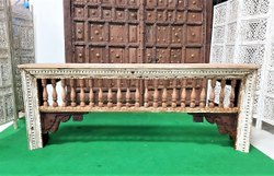 Console Table Made From Antique Carved Architectural Elements