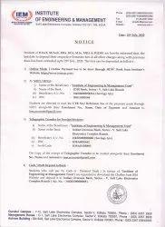 IEM Certificate