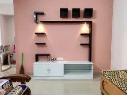 E-Tech Color Coated Aluminium Designer TV Unit, For Home
