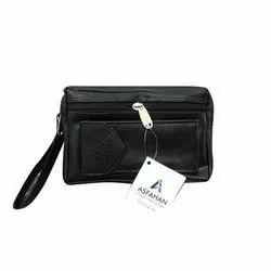 Asfahan Black Mens Leather Handbag