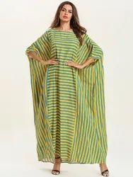 Turkish Moss Fabric Women Kaftan