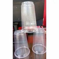 Plain 300 Ml Disposable Plastic Transparent Glass