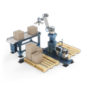 Palletizing Robot With Safe Collaborative Robot