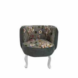 Modern Grey Single Seater Sofa, Back Style: Cushion