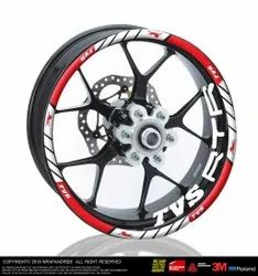 Tvs Rtr Rim Sticker Design 1  Front And Rear Included