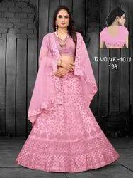 Ethnic Bollywood Embroidery Silk Lehenga