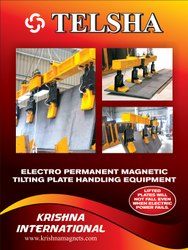 Tilting Plate Handling Electron Permanent Magnetic Lifter