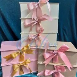 Kappa or MDF Rectangular Ribbon Gift Box, For Gifting, Size/Dimension: 6x8 Inch