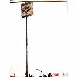 17m To 22m GI Petrol Pump Signage High Mast Lighting