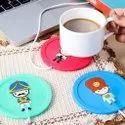 USB Gadget Cartoon Printed Insulation Electric Warmer Silicone Mat
