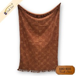 Hand Dyed Sofa Throw Blanket Indian Hand Block Print Cotton Throw Blanket Cozy Handmade Shawl