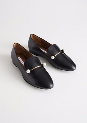 Formal Black Women Loafers, Size: 5-7