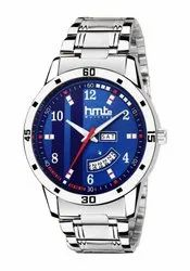 Men Analog Round Dial Watch