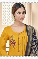 AVC Raas Heavy Cotton Slub Dress Material Catalog