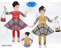 Girls party wear dress with bags