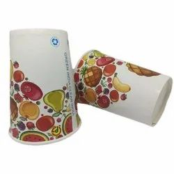 Orchid Printed Paper Disposable Glasses, Size: 250 Ml