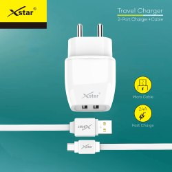 Xstar ST-01 Travel Charger (White) - Micro Pin