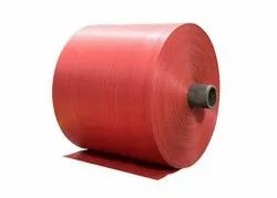 Red PP Laminated Woven Fabric Roll