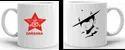 White Ceramic Printed Mug, For Gifting