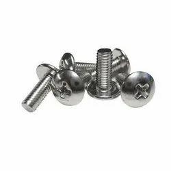 Full Thread Round Mild Steel Machine Screw, Size: M2, Galvanized