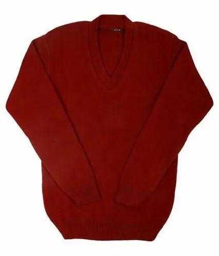 UP Govt School Uniform Mehroon Sweater