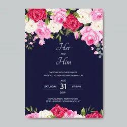 Wedding Invitation Cards, 2 Leaflet
