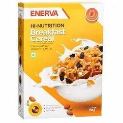 Corn ENERVA BREAK FAST CEREAL, Packaging Type: Packet, Flakes
