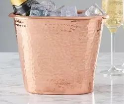 Copper Hammered Ice Bucket Cooler