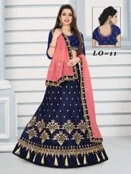 Party Wear Velvet Lehenga Choli
