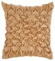 Handmade golden sqaure satin cushion cover