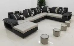 U Shape Fiber Back Sofa Set