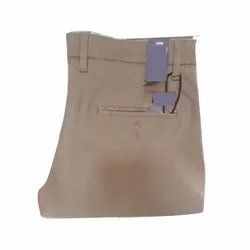 Brown Casual Wear Mens Cotton Pant