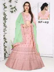 Ethnic Bollywood Embroidered Silk Bridal Lehengas