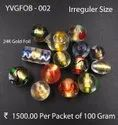 Gold Foil Murano Glass Beads