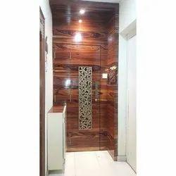 Balaji Plastiwood Brown Wooden Main Door, For Hotel