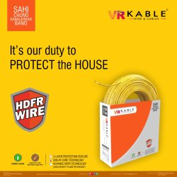 VR Kable 2.50 Sqmm HDFR Unilayer Wire, 90m