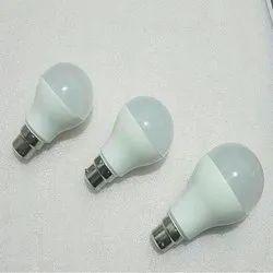 Warm White B22 Philips Type Ready HPF LED Bulb, 5000-6500 K, 7 W