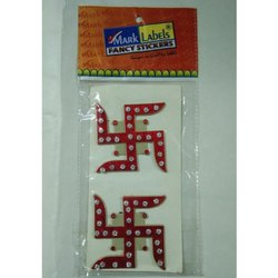 Diamond Plastic Molded Swastik Sticker