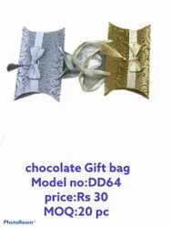 Golden And Silver Rectangular CHOCOLATE GIFT BAG